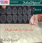 Clear jelly glue tabs false nail removable Nail Stickers