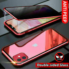 Magnetic Case For iPhone 11 Pro Max Adsorption Double Sided Tempered Glass Cover image