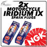 2x NGK Iridium IX Spark Plugs for HONDA 125cc VT125 /C2 Shadow 98-> #3797
