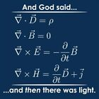 And God Said ...And Then There Was Light (Maxwell's equations)  MLS Funny T-s...