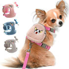 Dog Harness and Leash set with Treat Bag Mesh Walking Vest  for Small Medium Dog