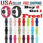 Silicone Band Strap For Apple Watch iWatch Sports Series 5/4/3/2/1 44/42/40/38mm image