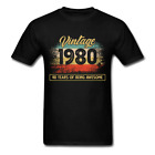 40th Birthday Vintage 1980 40 years funny Gift Unisex T-Shirt s-6xl image