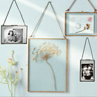 Antique Double Sided Wall-mounted Clear Glass Hanging Frame Photo Frame