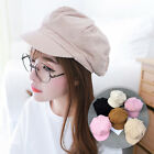 Women Girl Fashion Corduroy Newsboy Gatsby Beret Baseball Cap Cabbie Duck Hat