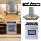 "THOR KITCHEN 30"" Gas Range Cooktop Oven 4.2cu.ft Wall Mount Chimney Range Hood photo"