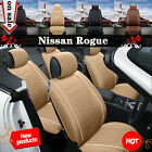 5 Seat Car Chair Cushion Seat Cover For 2013-2016 Nissan Rogue PU Leather WCV $79.99 USD on eBay