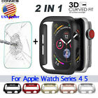 Full Cover Screen Protector Film &Bumper Case For Apple Watch Series 5/4 40 44mm image