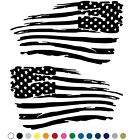 Distressed American Flag Decal Fender Door Sticker - Set of 2 for LEFT and RIGHT $35.95 USD on eBay