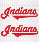 "2 Cleveland Indians Cornhole Decals Each 17.5x6"" Bean Bag Toss Sticker on Ebay"