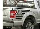 2x Rear Bedside Vinyl Decals For Ford F150 2015-2020  American Flag Graphics