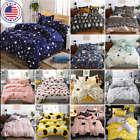Floral Duvet Cover Set Bedding Set Comforter Cover Soft Bed Sheet Pillowcase US image