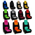 Car Seat Covers Flat Cloth Front Set Universal Fit for Auto Truck SUV