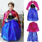 Princess Anna Frozen Fancy Dress Party Costume Kids Girls Outfit