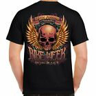 T Shirt official Bike Week Daytona 2020 Beach 79th Event Motorcycle black skull image