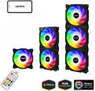upHere Wireless RGB LED 120mm Case Fan,Quiet Edition High Airflow Adjustable Col