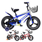 TYNEE™ 16 Inch Childrens Bicycle Kids Bike Blue With Removable Stabilisers UK