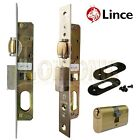 Lince Mortice Narrow Stile Sash Roller Latch Lock With Small Oval Cylinder UPVc