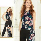 Avon Ladies Womens Summer Floral Print  Holiday Jumpsuits Playsuits Size 10 12