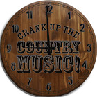Large Wall Clock Crank up the country music! cowboy south soulful western