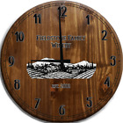 Large Wall Clock Italian Countryside Family Winery Bar Sign