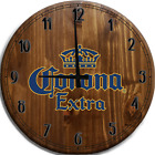 Large Wall Clock Corona Extra Beer Blue Yellow Crown Bar Sign