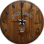Large Wall Clock Nautical Star Starry Knights Bar Sign