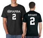 MAMBA SPORTS ACADEMY #2 T-Shirt LA Lakers Front and Back on Ring Spun Cotton Tee image