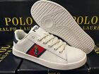 Polo Ralph Lauren Quilton Bear leather GS SNEAKERS RF100766 WHITE/RED/NAVY