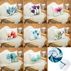 """US 17.72""""x17.72"""" Simple Style Flowers Throw Pillow Covers with Zipper Home Decor image"""
