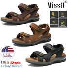 Kyпить Mens Leather Sandals Adjust Strap Open Toe Outdoor Casual Sports Beach Shoes Y11 на еВаy.соm