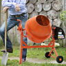 More images of Electric Mobile Cement Mixer 63 Litre Drum For Concrete Plaster Grouting Machine