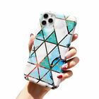 For iPhone 11 Pro Max Marble Ultra Thin TPU Bumper Elegant Back Case Cover