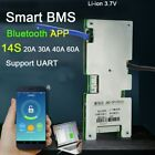 Smart BMS 14S 48v Li ion Lithium battery protection board balance Bluetooth APP