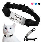 Quick Release Cat Collar Nylon Personalised ID Name Collar Tag Slide On Collar