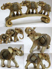 Stunning Gold Silver Glittered Elephant Animal Ornament Figurine Home Decor Gift