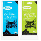 Cat Litter Tray Liners Bags with Tie Closer 6 Medium 46x38cm or 6 Large 52x40cm
