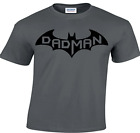 CBTWear Dadman - Super Dadman Bat Hero Funny Premium Mens T-Shirt (Medium, Char
