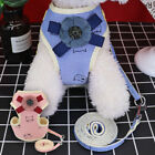 Cute Flower Pet Dog Harness and Leash Soft Mesh Walking Vest for Small Puppy Cat