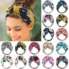 Women's Bohemia Floral Wide Stretch Hair Band Twisted Knotted Floral Headband