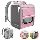 Breathable Pet Backpack Carriers Outdoor Travel Dog Cat Foldable Mesh Bag Cage