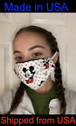 DISNEY MICKEY MOUSE / MINNIE - CHOOSE Pattern! Face Mask 100% Cotton, Washable