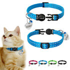 Reflective Pet Cat Breakaway Collar Personalized ID Tags Quick Release Small Dog