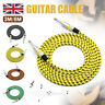 More images of Stagg 6M Guitar Cable Lead Braided Vintage Tweed Style Electric Bass Acoustic UK