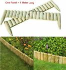 Roll Log Wooden Border Edge Landscaping Garden Patio Lawn Picket Fence Panel 1m