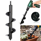 Earth Auger Drill Bit Fence Borer For Garden Planting Post Hole Digger Tools ~uk