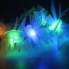 50 LED Outdoor Garden Solar Powered Butterfly Fiber Optic Fairy String Lights