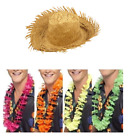 Mens Hawaiian Beach Stag Party Fancy Dress Beachcomber Straw Hat + Garland Lei
