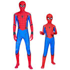US KY Spider-Man:Homecoming Cosplay Costume Kids Boys Spiderman Zentai Jumpsuit