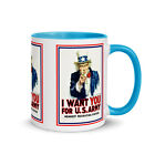 1917 UNCLE SAM US Army WW1 Recruiting Poster Hot or Cold Beverage Mug (4 Colors)